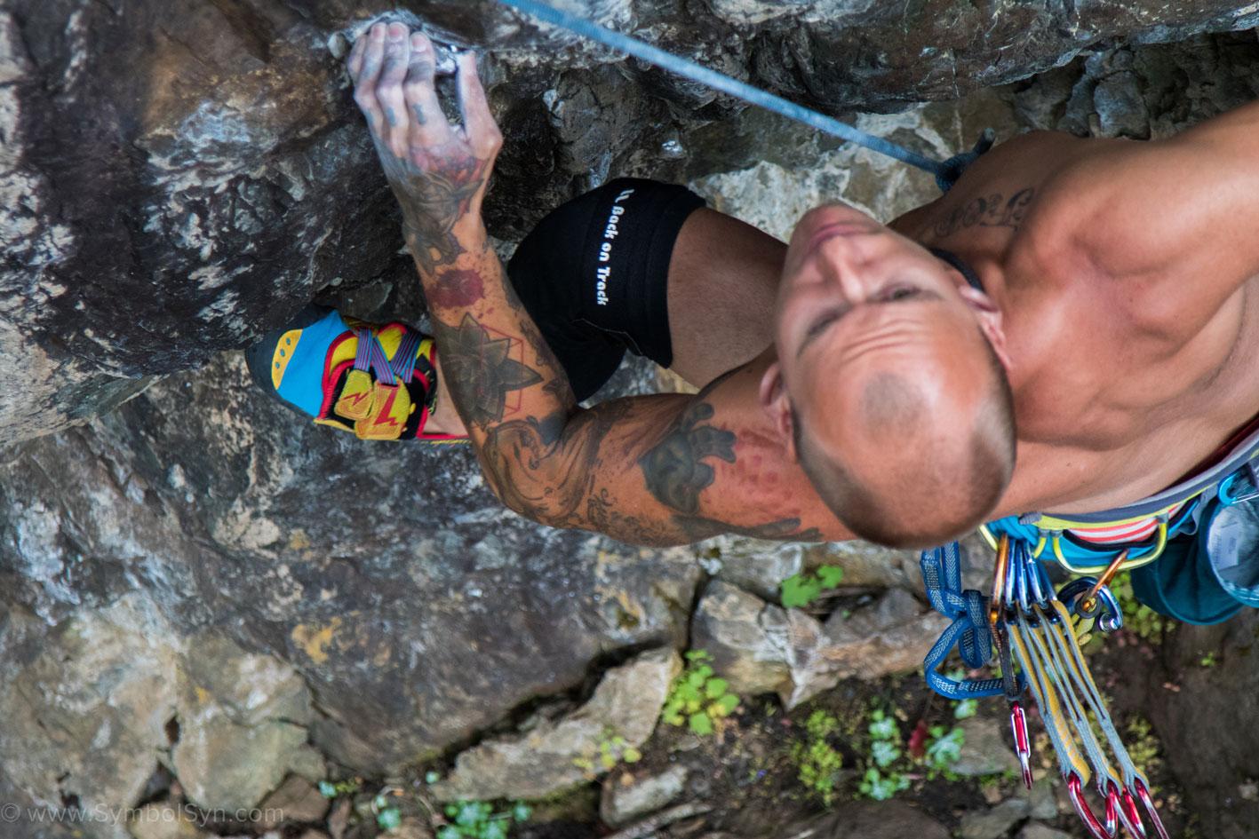 Johnny Climbing