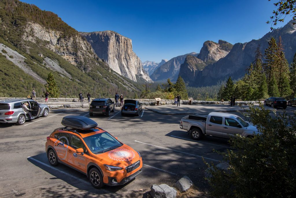 Subaru in Yosemite