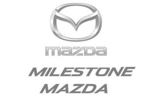 Milestone Mazda's logo who we do online marketing and video production for.