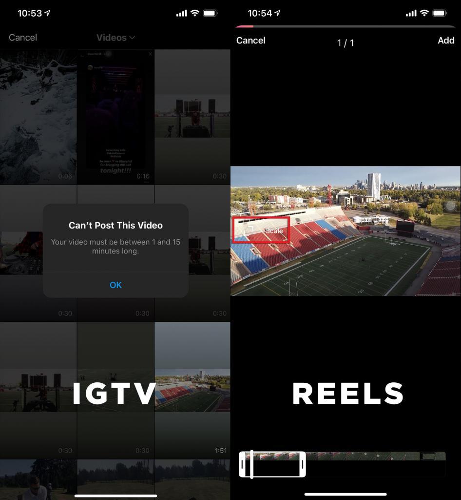 IGTV vs Reels