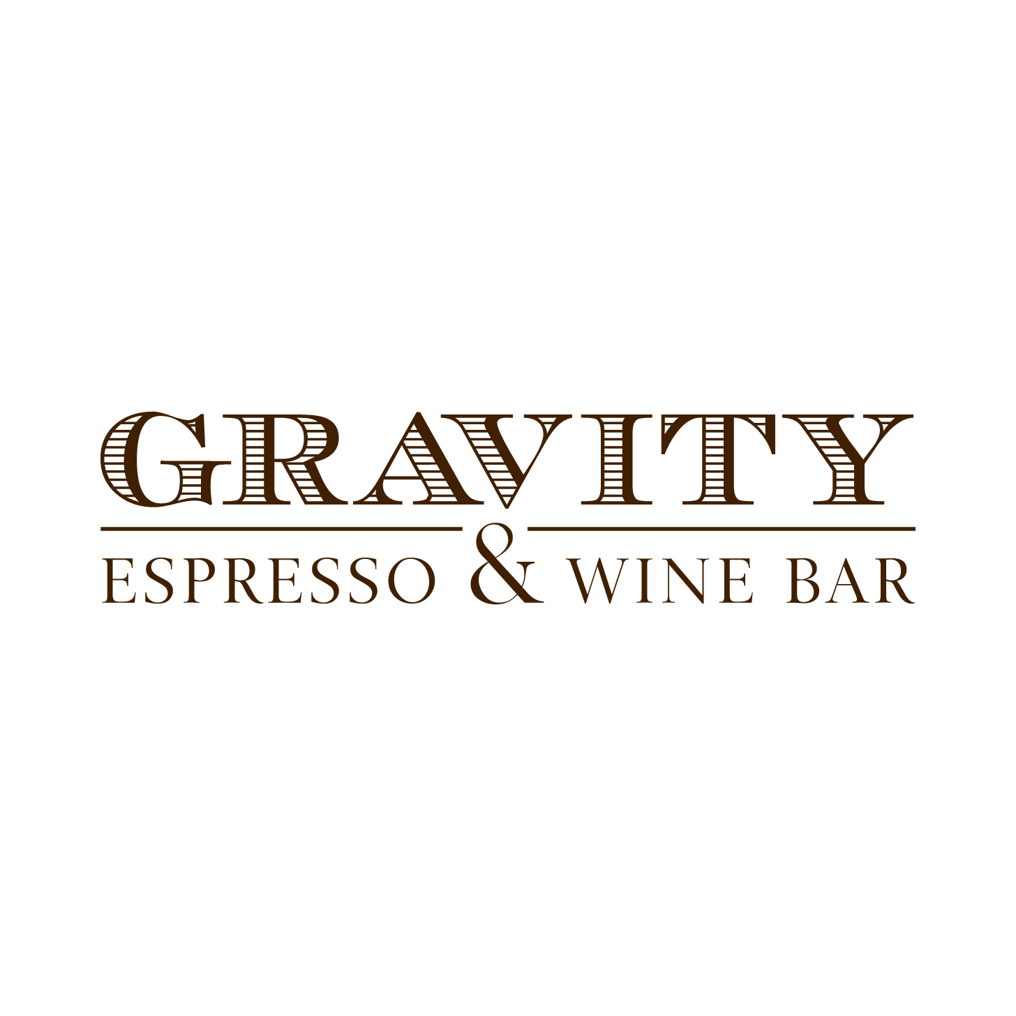 Gravity espresso and wine bar logo