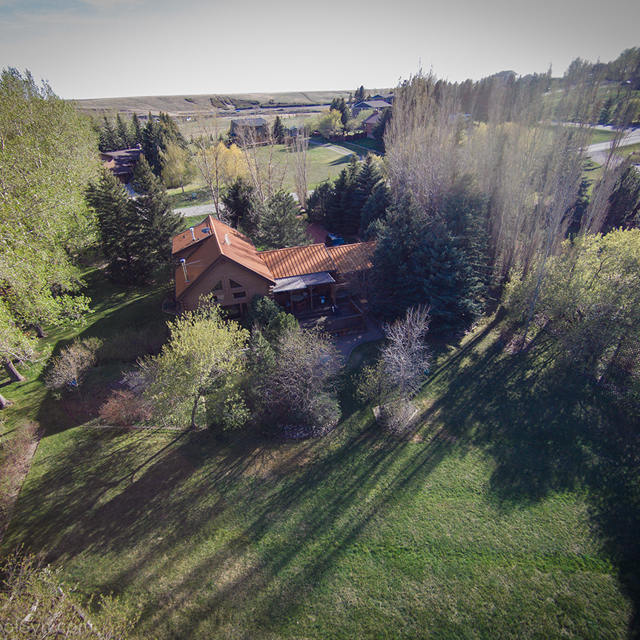 Drone footage of a house