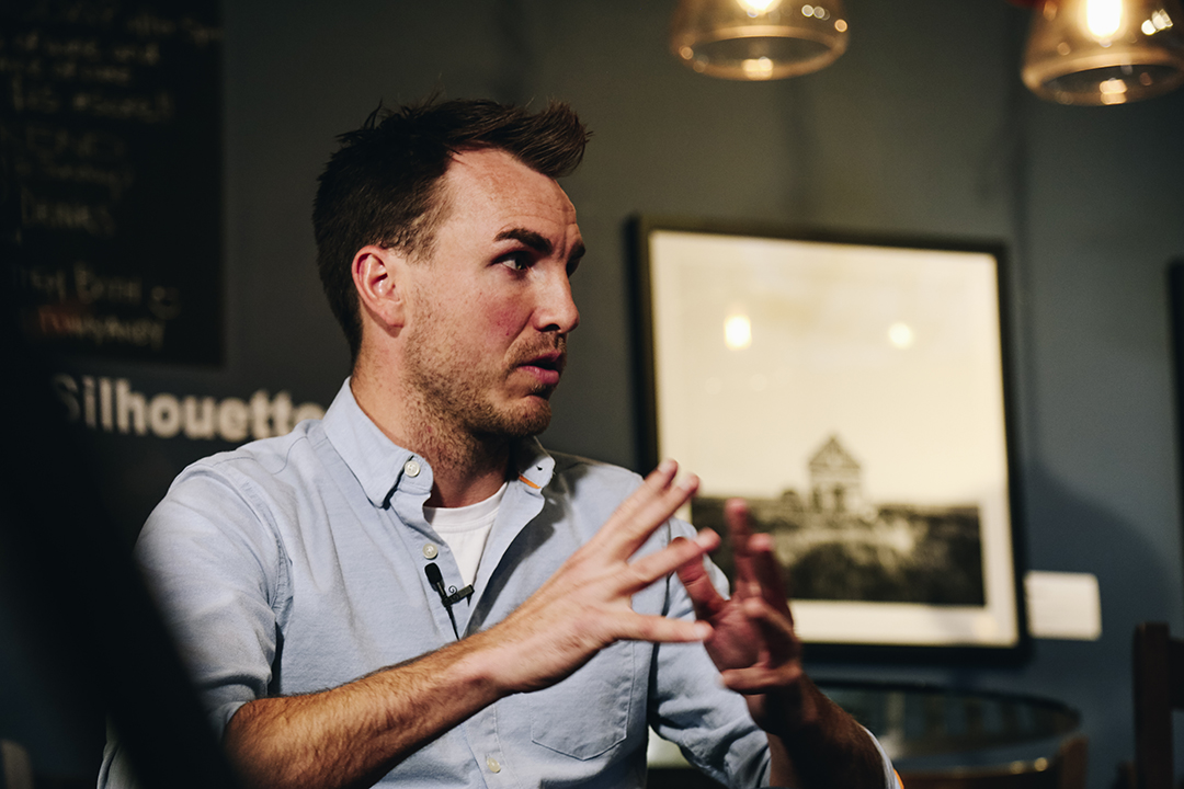 close up of Jeremy Fokkens