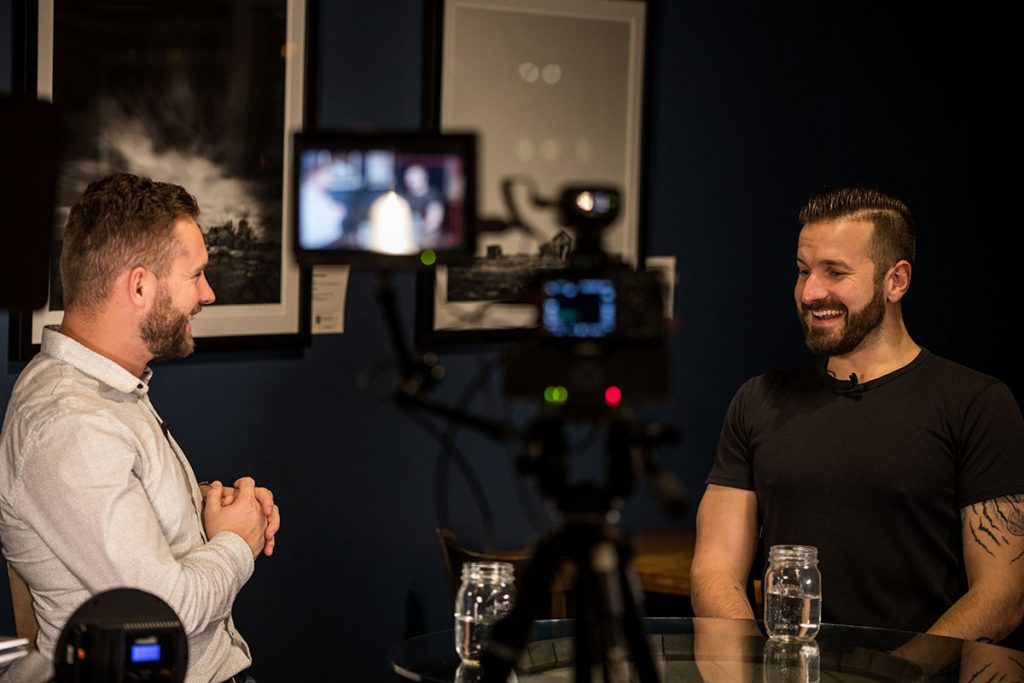 Andrew Obrecht with Jonathan Hafichuk of Symbol Syndication