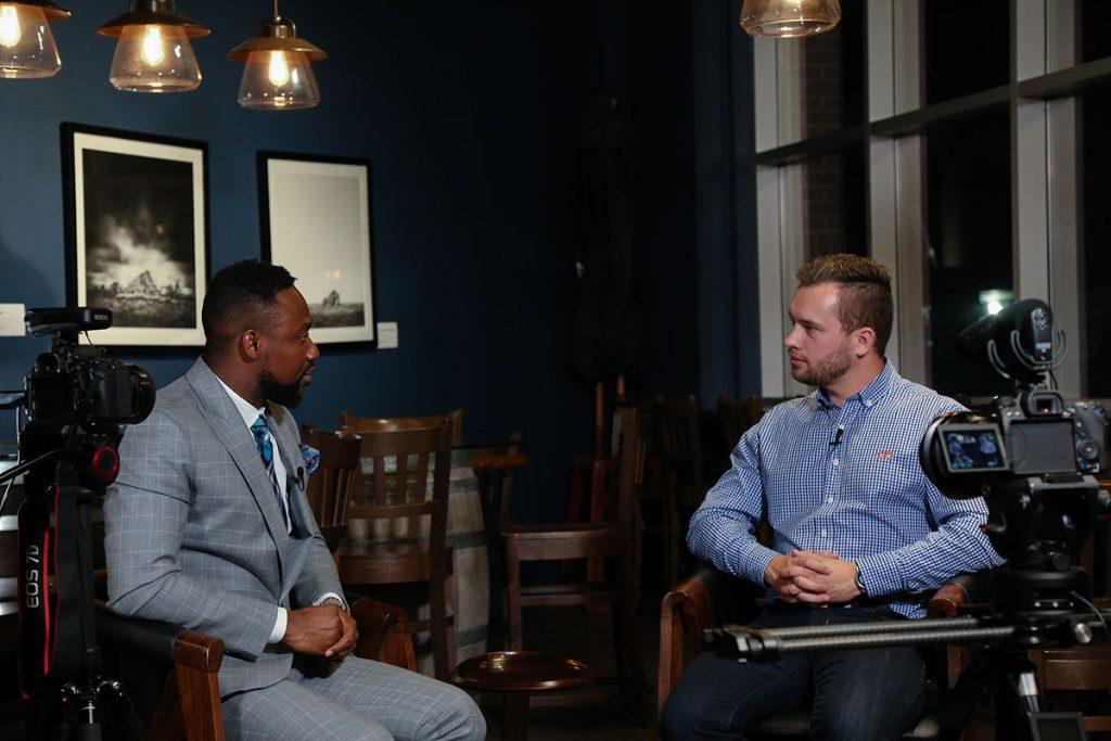 Charles Osuji with Jon Hafichuk