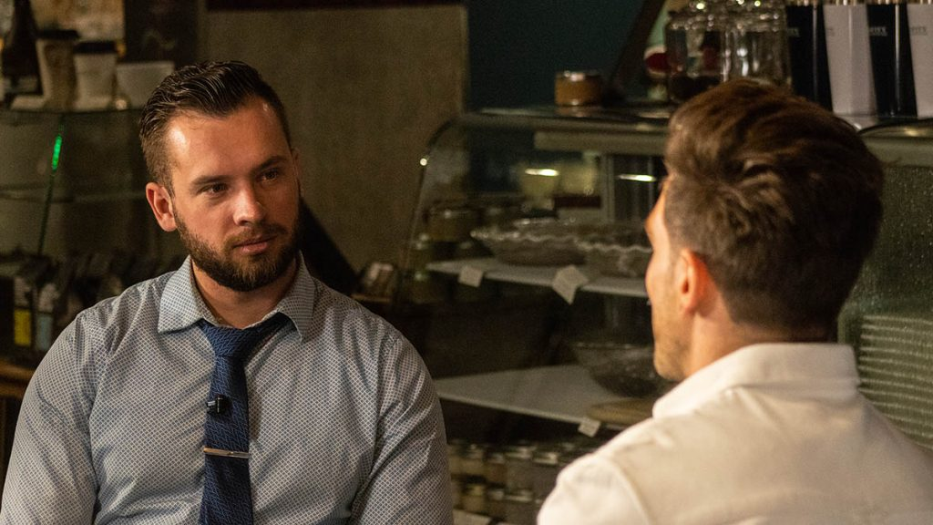 Jonathan Hafichuk interviewing Kyle Friedman